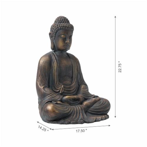 Glitzhome Meditating Buddha Decorative Garden Statue Perspective: left