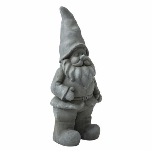 Glitzhome Standing Gnome Garden Statue Perspective: left