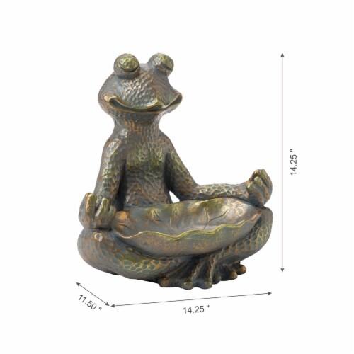 Glitzhome Yoga Frog Stature - Bronze Perspective: left