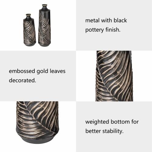Glitzhome Boho Elegant Decorative Metal Table & Floor Vases Perspective: left