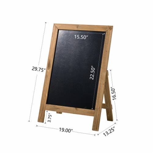 Glitzhome Farmhouse Wood Hanging and Floor Displayed Memo Board - Brown Perspective: left