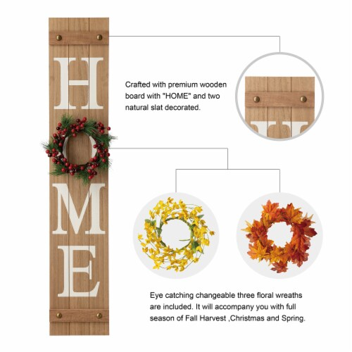 Glitzhome Wooden Holiday Wall Sign Perspective: left