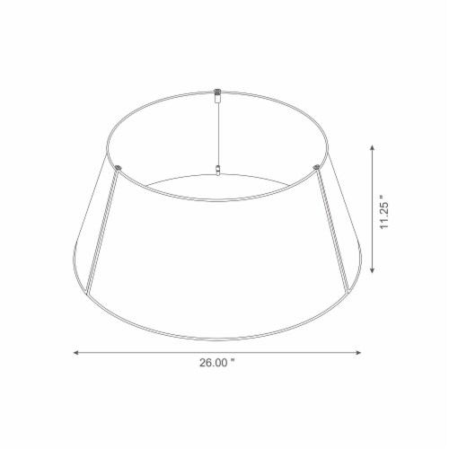 Glitzhome Metal Woven Tree Collar - Black Perspective: left
