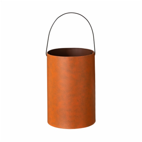 Glitzhome Metal Cutout Pumpkin Buckets Perspective: left