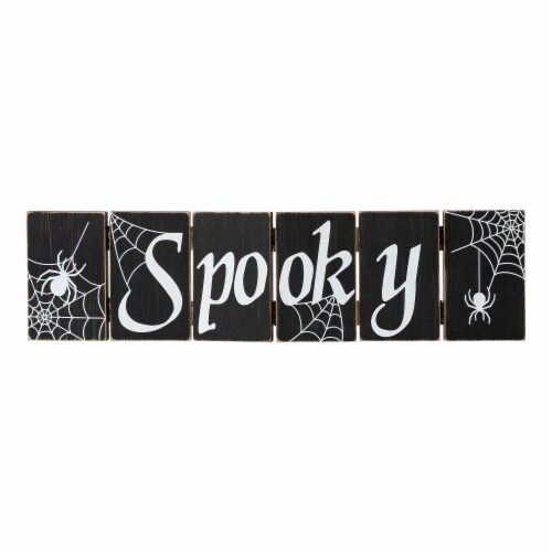 Glitzhome Halloween Wooden Hinged Table Sign Perspective: left