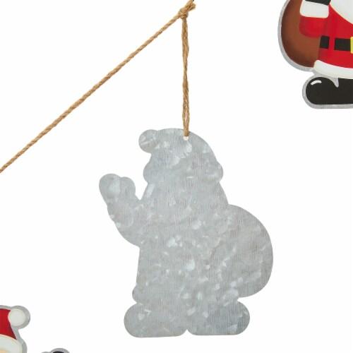 Glitzhome Metal Christmas Santa Garland Perspective: left
