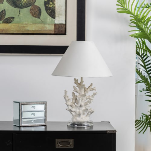 Glitzhome Coral Table Lamp Perspective: left