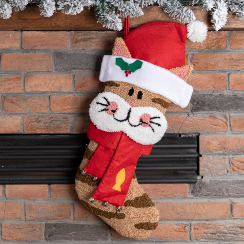 Glitzhome 3D Cat Stocking Perspective: left