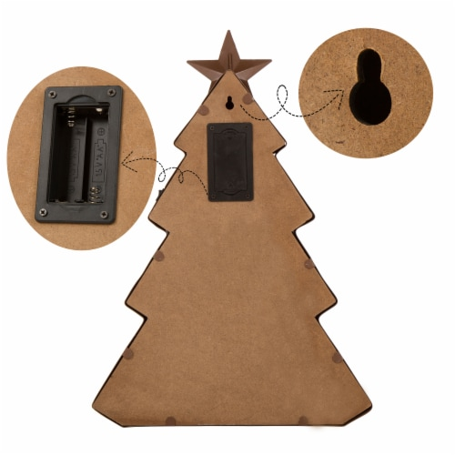 Glitzhome Metal Christmas Tree Marquee Decor Perspective: left