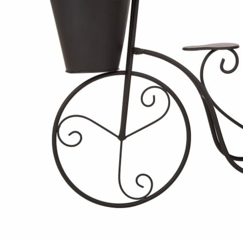 Glitzhome Metal Bicycle Shape Planter - Black Perspective: left