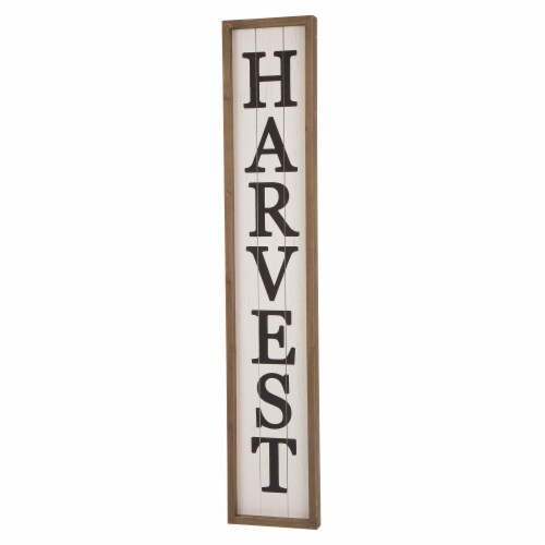 Glitzhome Wooden Harvest Hanging Decoration Perspective: left