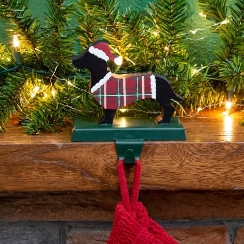 Glitzhome Dachshund Christmas Stocking Holder Perspective: left
