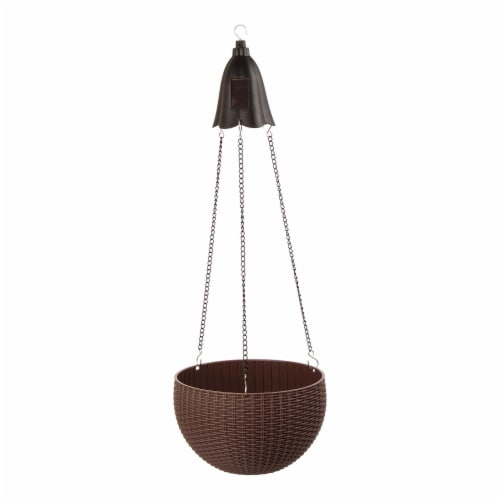 Glitzhome Solar Light Hanging Planter Perspective: left
