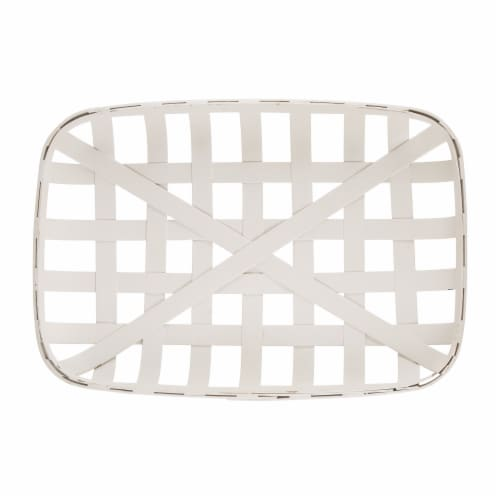 Glitzhome Wooden Tobacco Basket & Wooden Sign Wall Decoration Perspective: left