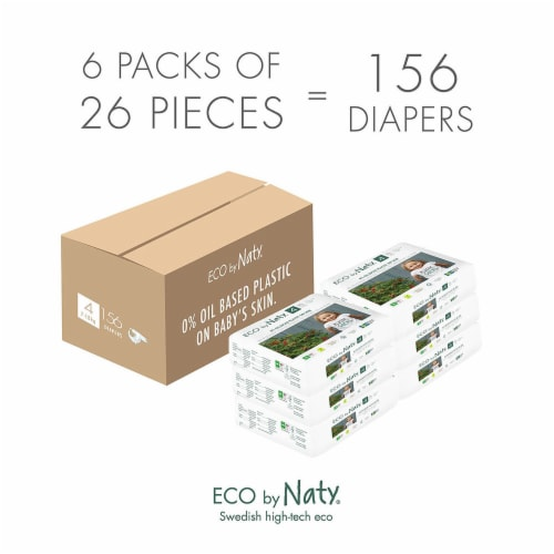 Eco by Naty Size 4 Disposable Diapers Perspective: left