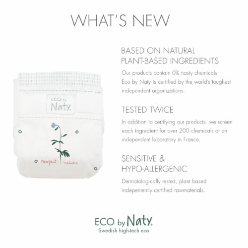 Eco by Naty Newborn Disposable Diapers 100 Count Perspective: left