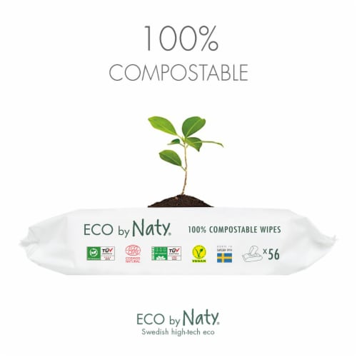 Eco by Naty Baby Wipes with Aloe Vera 672 Count Perspective: left
