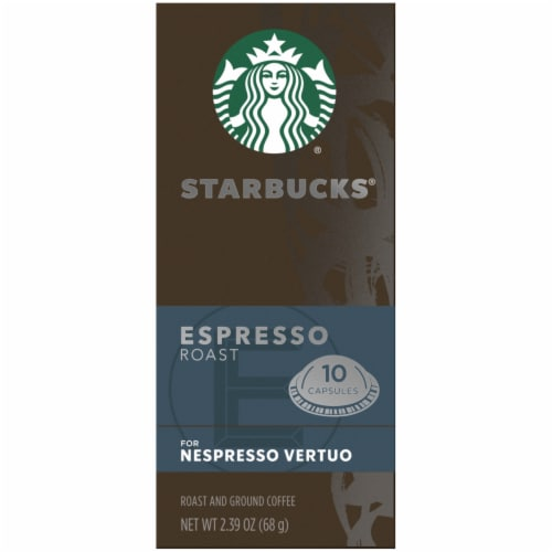 Starbucks Nespresso Espresso Roast Single Serve Coffee Capsules Perspective: left