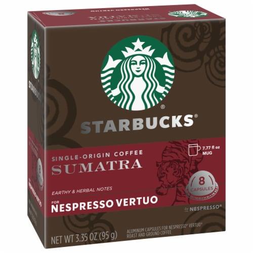Starbucks Nespresso Sumatra Single Serve Coffee Capsules Perspective: left