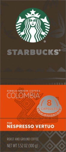 Starbucks Nespresso Colombia Single Serve Coffee Capsules Perspective: left