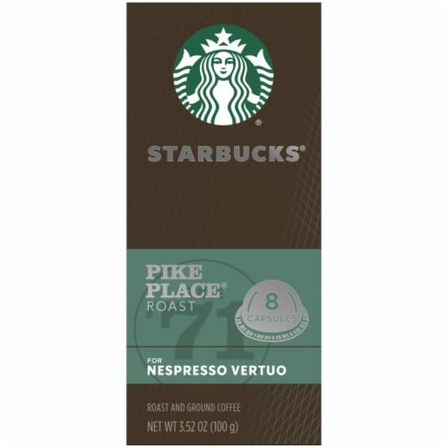 Starbucks Nespresso Pike Place Roast Single Serve Coffee Capsules Perspective: left