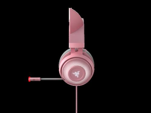 Razer Kraken Kitty Quartz Chroma USB Gaming Headset Perspective: left