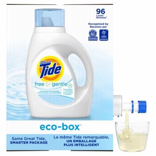 Tide Free & Gentle Liquid Laundry Detergent Perspective: left