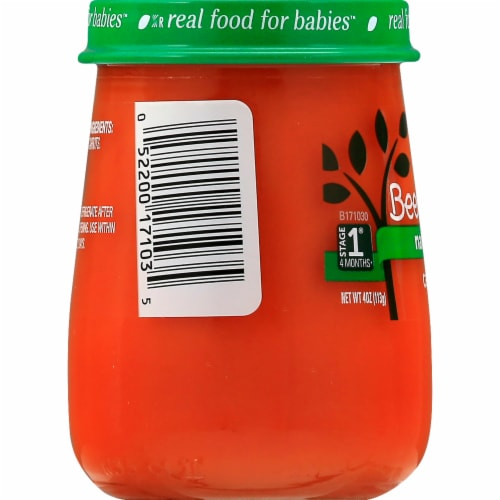 Beech-Nut Naturals Just Carrots Stage 1 Baby Food Perspective: left