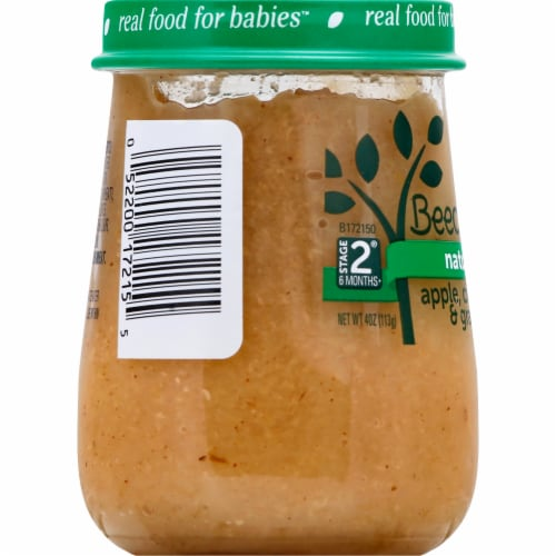 Beech-Nut Naturals Apple Cinnamon & Granola Stage 2 Baby Food Perspective: left