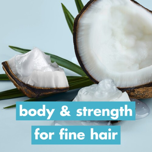 Love Beauty & Planet Sulfate-Free Coconut Water & Mimosa Flower Shampoo & Conditioner for Fine Hair Perspective: left