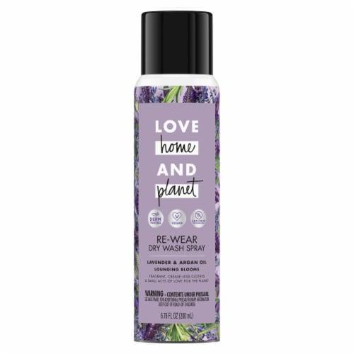 Love Home & Planet Lavender & Argan Oil Re-Wear Dry Wash Spray Perspective: left