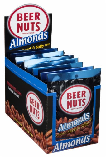 Beer Nuts Almond, 2 Ounce - 12 per pack -- 48 packs per case. Perspective: left