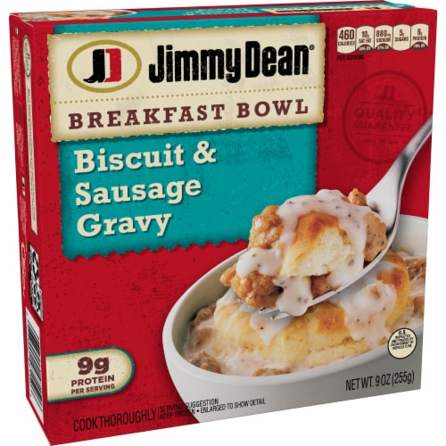 Jimmy Dean Biscuit and Sausage Gravy Breakfast Bowl Perspective: left