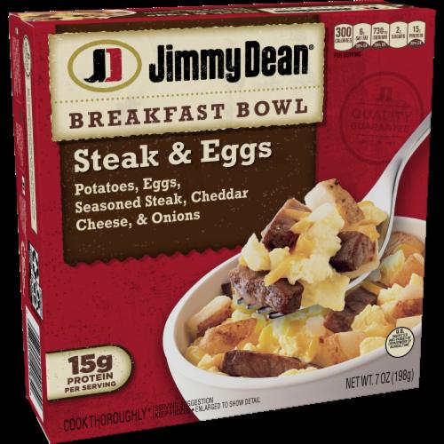 Jimmy Dean Steak & Eggs Breakfast Bowl Case Perspective: left
