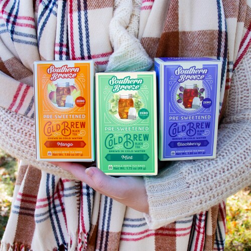 Southern Breeze Sweet Tea Cold Brew Sweet Iced Tea Bundle 8 Pack Perspective: left