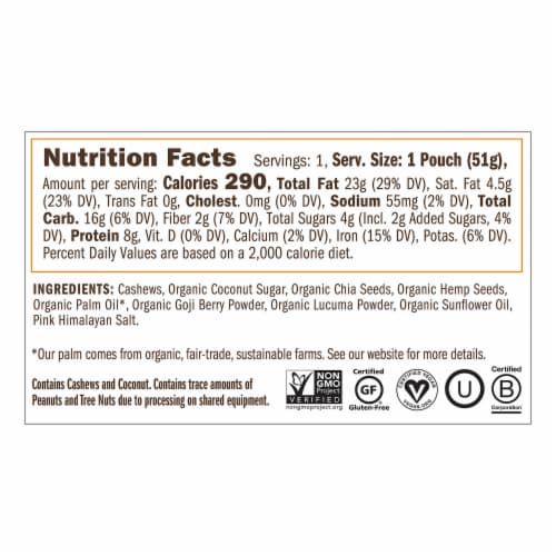 Yumbutter Superfood Cashew Butter - Mini Squeeze Packet Perspective: left