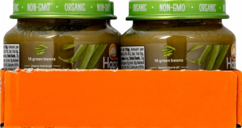 Happy Baby Organic Green Beans Stage 1 Baby Food Perspective: left