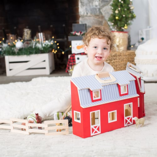 Melissa and Doug® Fold and Go Wooden Barn Perspective: right