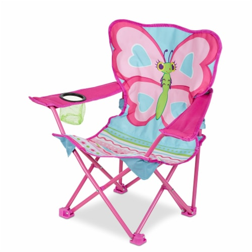 Melissa & Doug® Cutie Pie Butterfly Camp Chair Perspective: right