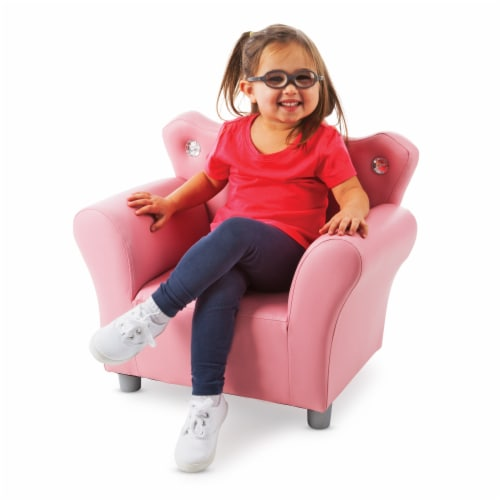 Melissa & Doug® Faux Leather Child's Crown Armchair - Pink Perspective: right