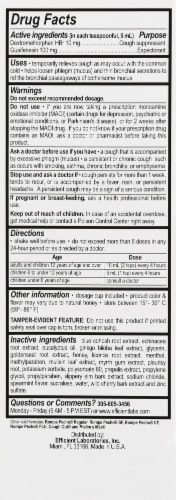 Rompe Pecho DM Cough Suppressant / Expectorant Syrup Perspective: right