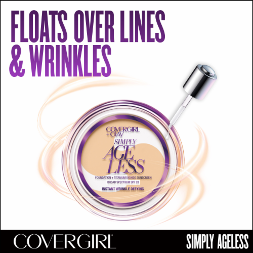 CoverGirl + Olay Simply Ageless 225 Buff Beige Foundation Powder Perspective: right