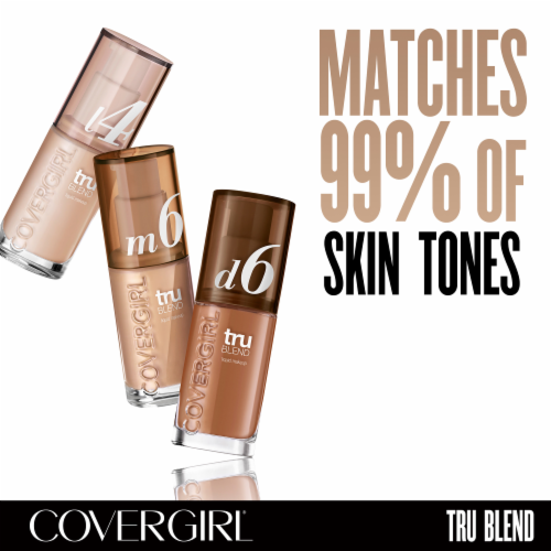 CoverGirl TruBlend Makeup Medium Light Foundation Perspective: right