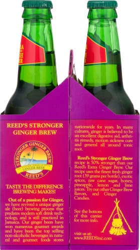 Reed's Stronger Non-Alcoholic Ginger Beer Perspective: right