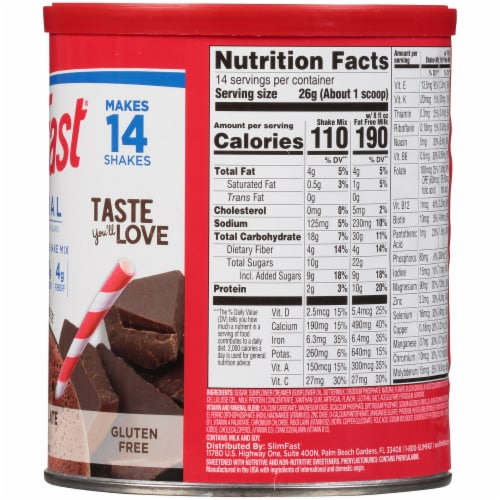 SlimFast Original Rich Chocolate Royale Meal Replacement Shake Mix Perspective: right