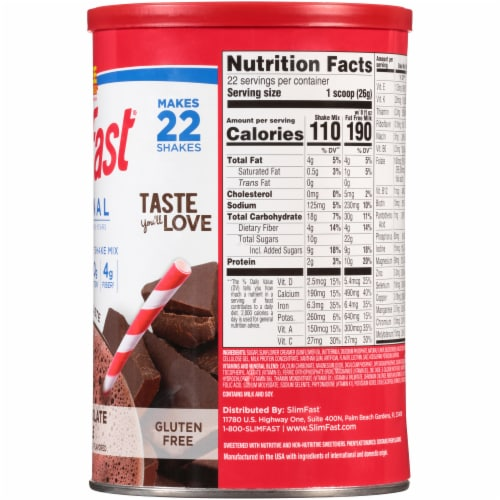SlimFast Original Rich Chocolate Royal Meal Replacement Shake Mix Perspective: right