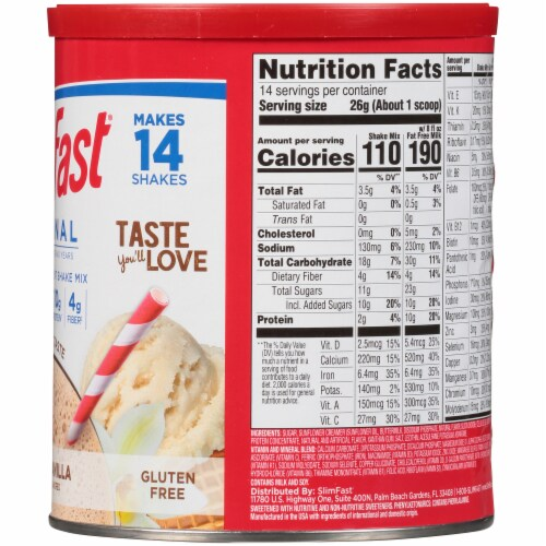 SlimFast Original French Vanilla Meal Replacement Shake Mix Perspective: right
