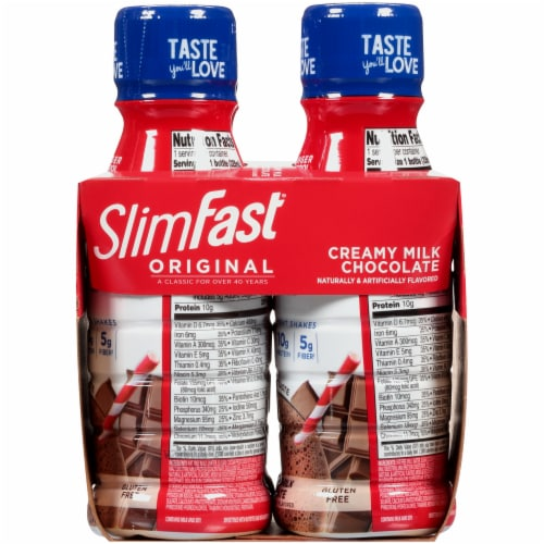 SlimFast Original Creamy Milk Chocolate Ready To Drink Meal Replacement Shakes Perspective: right