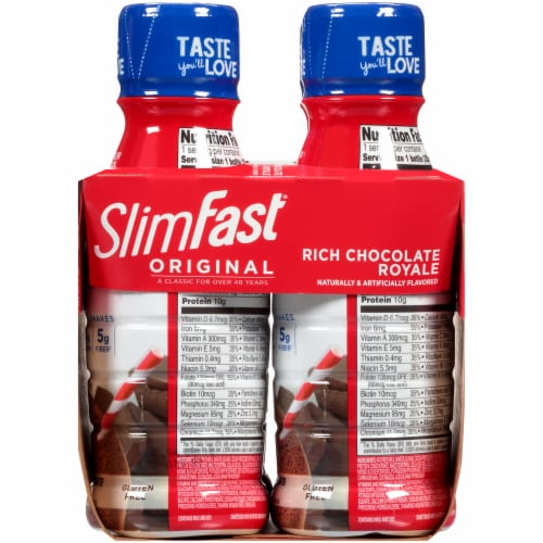 SlimFast Original Rich Chocolate Royale Ready to Drink Meal Replacement Shakes Perspective: right