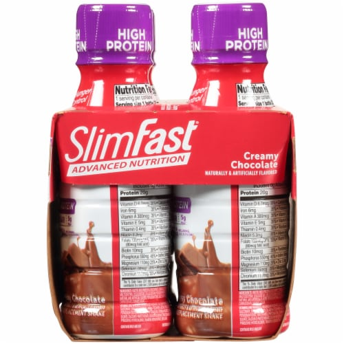 SlimFast Advanced Nutrition Creamy Chocolate Meal Replacement Shakes Perspective: right